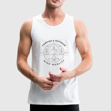 Camping Tee Shirt Gift for men and women - Men's Premium Tank