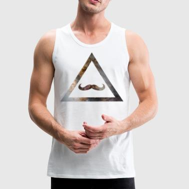 Galaxy Mustache Triangle - Men's Premium Tank
