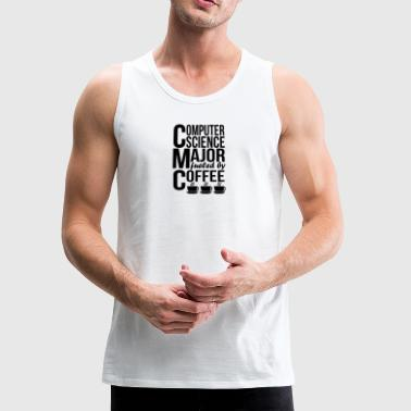 Computer Science Major Fueled By Coffee - Men's Premium Tank