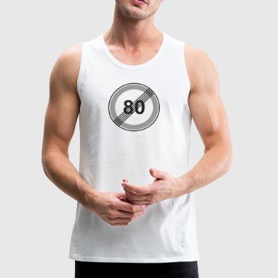 Road_Sign_80_restriction - Men's Premium Tank