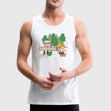 hike more worry less dogs - Men's Premium Tank