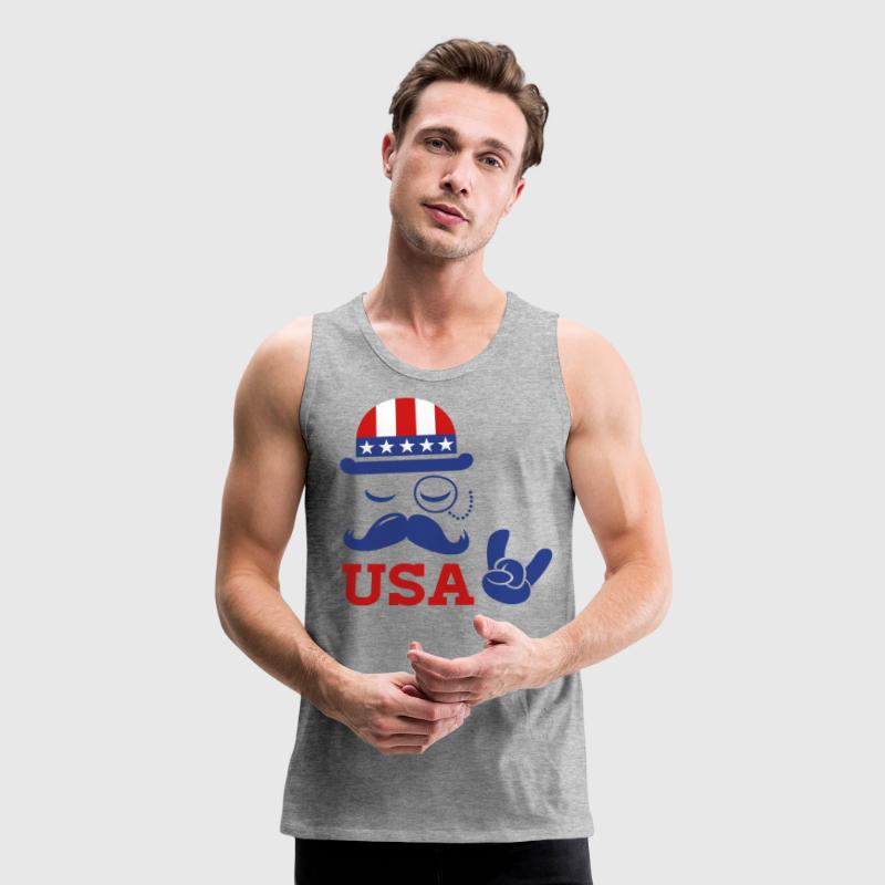 Like a USA American holiday patriot boss sports - Men's Premium Tank