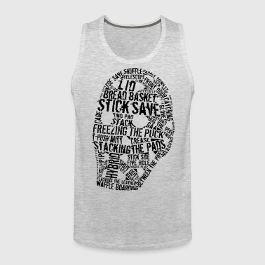 Hockey Goalie Mask Typography - Men's Premium Tank