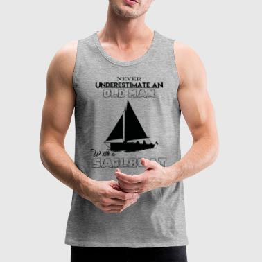 With A Sailboat - Men's Premium Tank