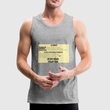 HELLO MY NAME IS - Men's Premium Tank