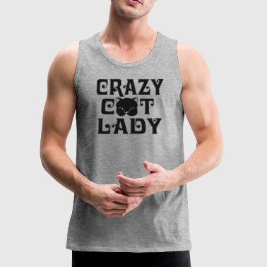 CRAZY CAT LADY - Men's Premium Tank