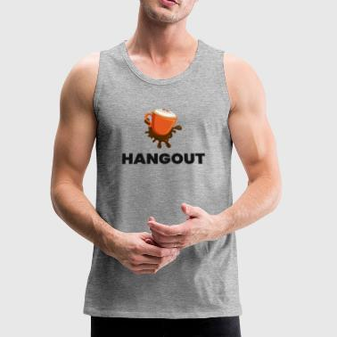 Coffee Time Hangouts Tshirt - Men's Premium Tank