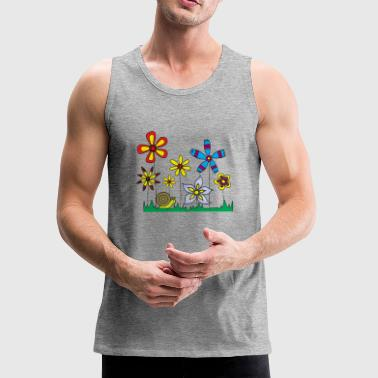 Snail on flower meadow - Men's Premium Tank