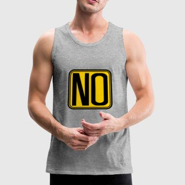 forbidden shield frame how about no saying funny h - Men's Premium Tank