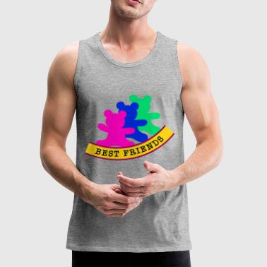 best friends / friends - Men's Premium Tank