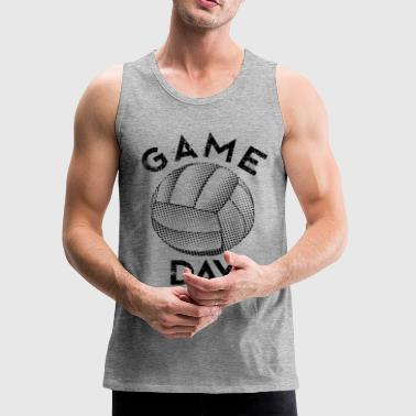 gameday volleyball black - Men's Premium Tank