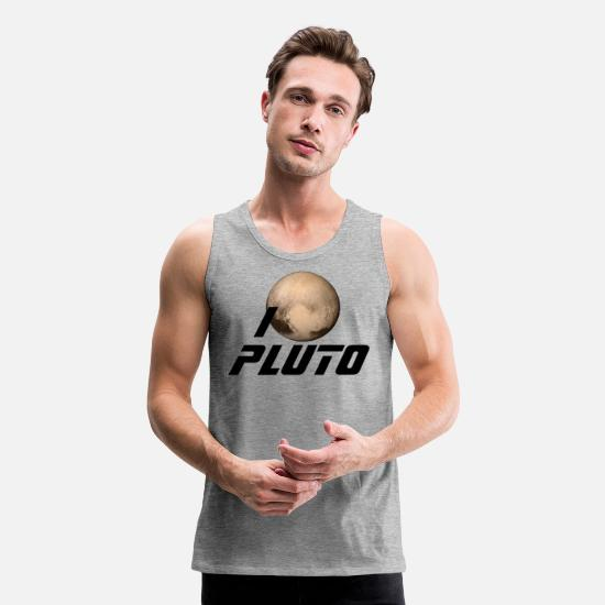 Mainstream Tank Tops - I Heart Pluto - Men's Premium Tank Top heather gray