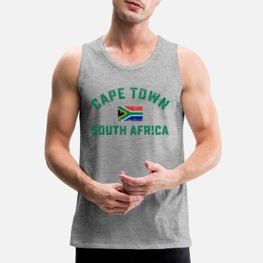 South Africa South Africa flag design shirt - Men's Premium Tank Top
