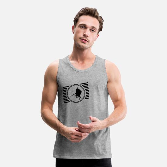 Knight's Cross Tank Tops - Knight - Men's Premium Tank Top heather gray