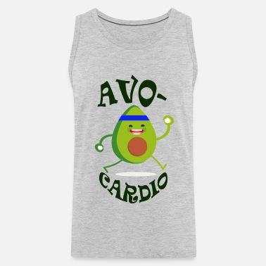 97e4c7dc avocardio gym funny tee Men's Premium T-Shirt | Spreadshirt