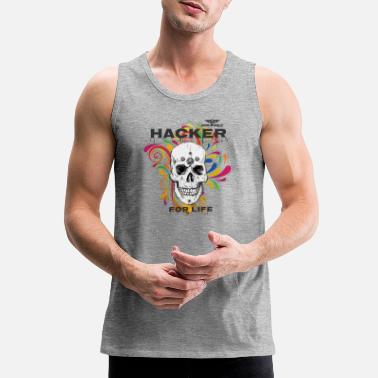 Hackerche Dominant Gear Hacker for Life colorful - Men's Premium Tank Top