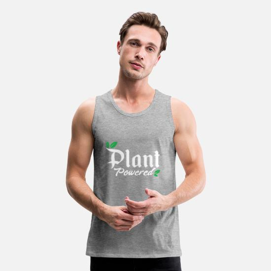 Vegan Tank Tops - Plant Powered Vegan Veganism green - Men's Premium Tank Top heather gray