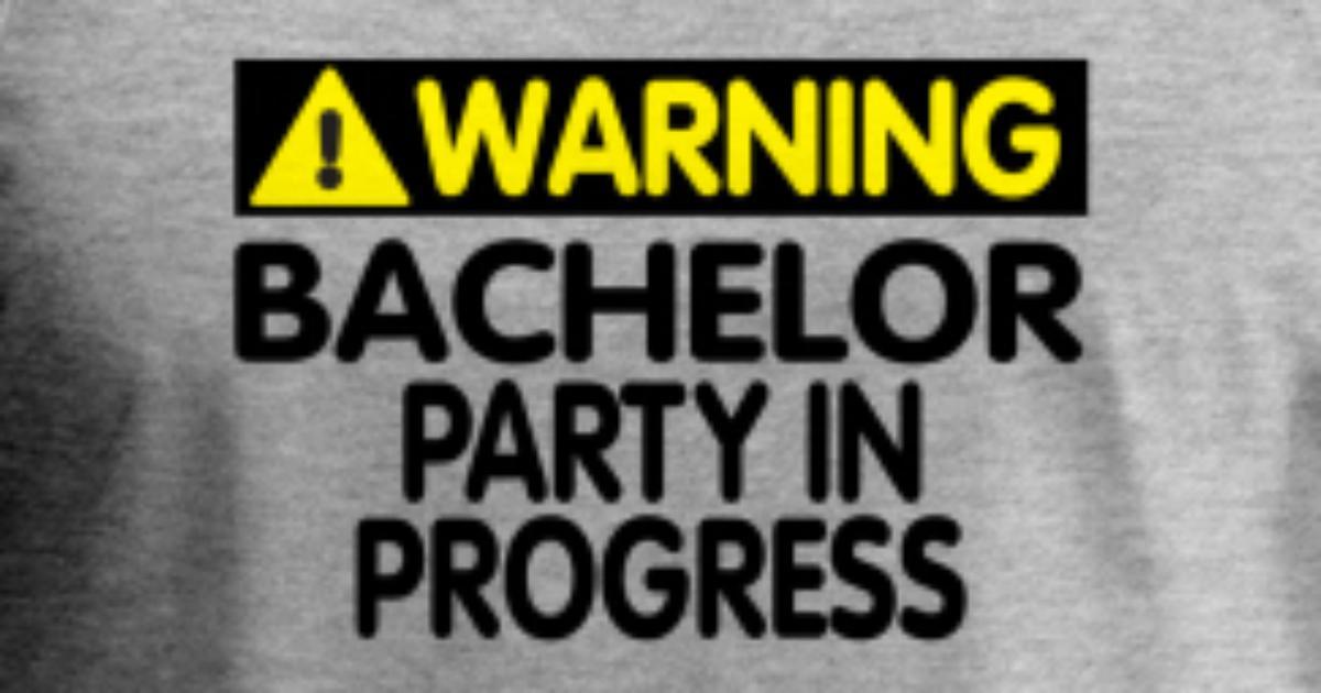 05044ff47ee5e3 Warning! Bachelor Party In Progress Men s Premium Tank Top