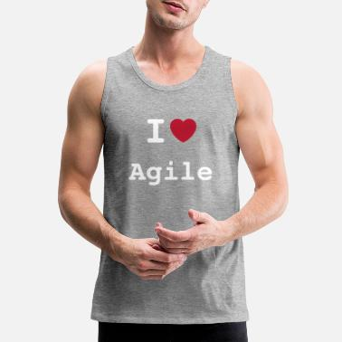 I Love Agile - Men's Premium Tank