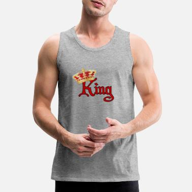 King He is Your King-Red &Gold - Men's Premium Tank Top