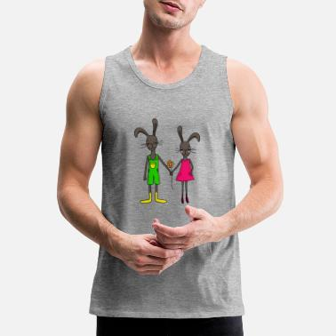 Easter Bunny Easter bunny hare gift idea - Men's Premium Tank Top