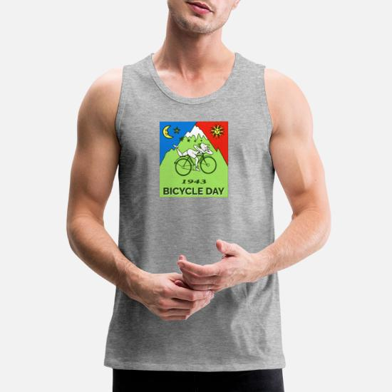13c859c83 Bicycle Day T shirt 1943 Vintage Albert Hofmann Men's Premium Tank ...