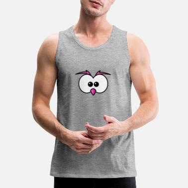 Beak Eyes with beak and eyebrows pink - Men's Premium Tank