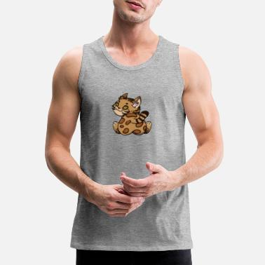 Bengal Cat Butt - Men's Premium Tank Top
