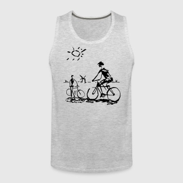 Bicycle Bicycling Picasso - Men's Premium Tank