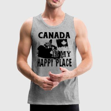 Canada Is My Happy Place Shirt - Men's Premium Tank