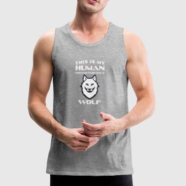 This Is My Human Costume Im Really A Wolf Gift - Men's Premium Tank