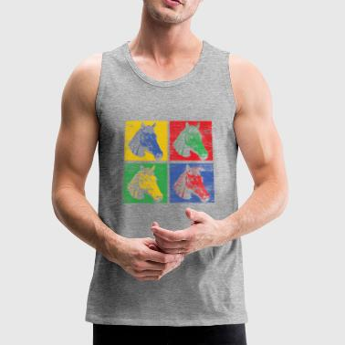 Horse pop art - Men's Premium Tank