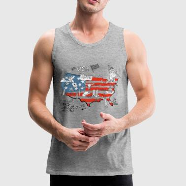 Usa map - Men's Premium Tank