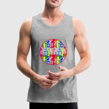 Disabled Queer Mens T Shirt - Men's Premium Tank