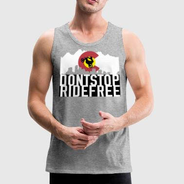 Dont Stop RideFree Colorado (J&L) - Men's Premium Tank