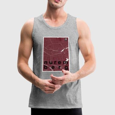 Nuremberg hipster city map red - Men's Premium Tank