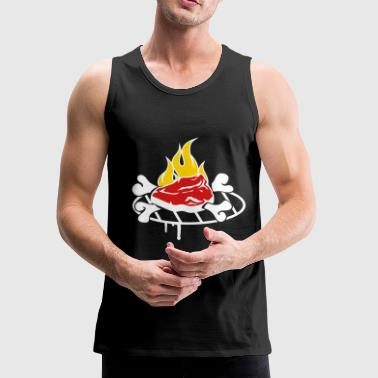 A steak on the grill  - Men's Premium Tank