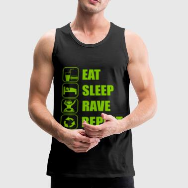 Eat Sleep Rave Repeat - Men's Premium Tank