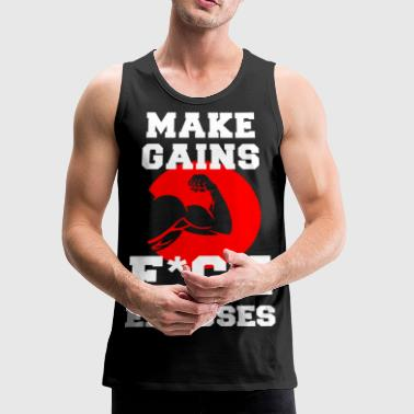 Make Gains - Men's Premium Tank