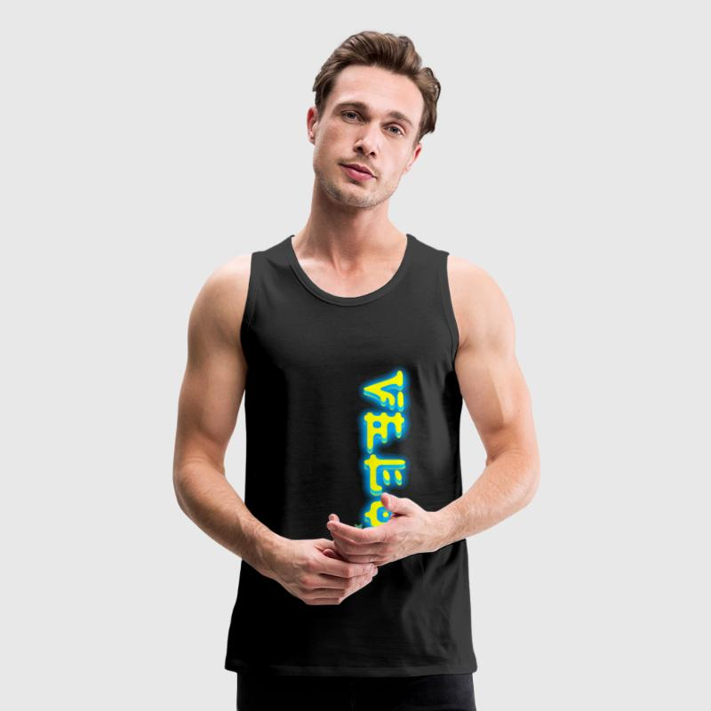 Velocity xVx Sport Electric Yellow&Blue - Men's Premium Tank
