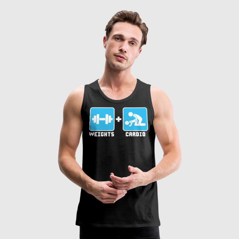 Weights and Cardio - Men's Premium Tank