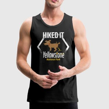 National Parks Tshirt Yellowstone National Park Hiking - Men's Premium Tank