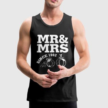 1992 Wedding - 25th Wedding Anniversary Gift - M - Men's Premium Tank