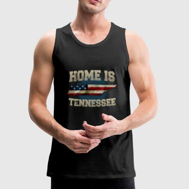 Home is Tennessee USA US map gift unique fans Proud Strong Support - Men's Premium Tank