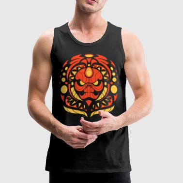 tribal skull red - Men's Premium Tank