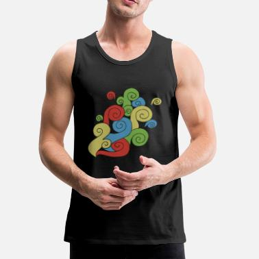 Bright Colors Bright Color Swirls - Men's Premium Tank
