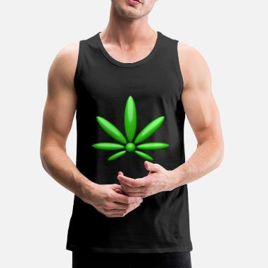 Hemp hanf cannabis kiffen marijuana hemp grass gras11 - Men's Premium Tank Top