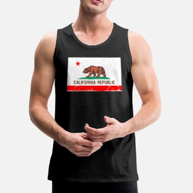 california Vintage Flag - Men's Premium Tank