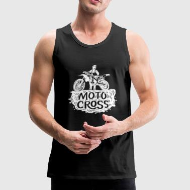 motocross white black rugged gift idea - Men's Premium Tank