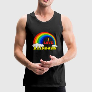 I Love Rainbows Statement gift kids christmas - Men's Premium Tank